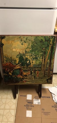 brown wooden framed painting of forest Henderson, 89015