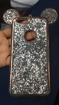silver and black glittered iPhone case Forest Park, 30297