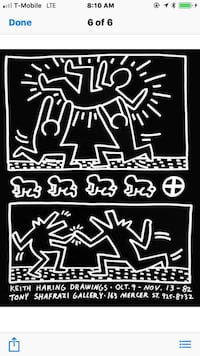Keith Haring signed prints Portland, 97236