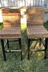 Wicker bar stools.  Sandy, 84070