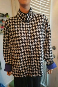 Reversible Houndstooth and Blue Fleece Jacket XL North Charleston, 29406