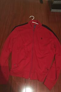 Red polo jacket