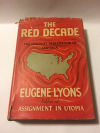 1941 1st Edition The Red Decade The Stalinist Penetration of America E. Lyons Wilmington
