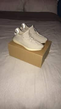 974ddf41c Used pair of zebra Adidas Yeezy Boost 350 v2 with box for sale in ...