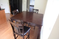 Bar- High Table and 3 Chairs