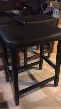 3 barstools, 1 with black legs and 2 with brown. Need occasional tightening with Allen wrench. Stylish and lightweight. Washington, 20010