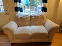 Tan Love Seat  couch beige off white Falls Church, 22046