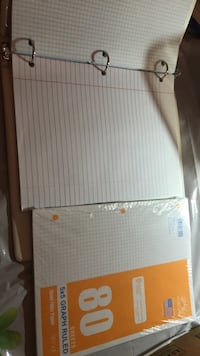 Binder Full of New Line and Graph Paper Fairfax Station, 22039