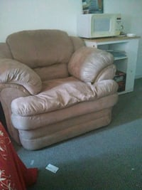brown leather recliner sofa chair
