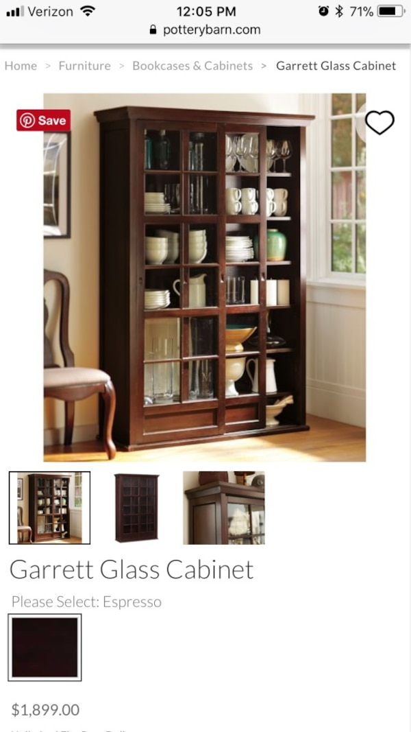 Used Brown Wooden Framed Gl Display Cabinet For In Waterford Letgo