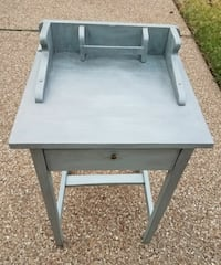 gray wooden side table