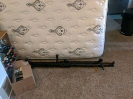 Queen mattress, box spring and frame for sale