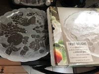 """Brand new  large 14"""" round fruit or meat platter. $ 2 extra for  delivery.    London"""