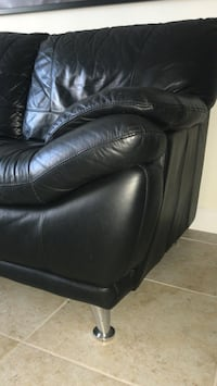 Leather Black Couch  Davie, 33324