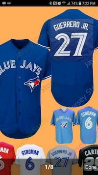 blue and white Toronto Blue Jays jersey Cambridge, N3H 3N7