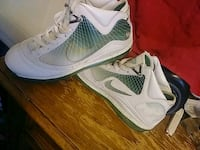 pair of gray-and-green Nike basketball shoes Arden, 28704
