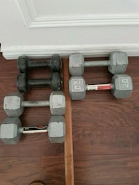 two gray fixed weight dumbbells Mississauga, L5J 4B6