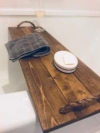 Rustic bathtub tray London
