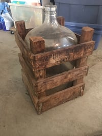 70 year old bleach jug and shipping crate Edmonton, T5T 6W6