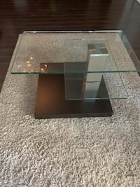 Modern Glass Side Table Coquitlam