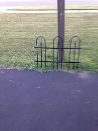 4 sections of black metal fence 10.00 each Olney, 20832