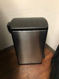 Simple Human Silver Stainless Steel Garbage Can