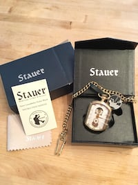 Stauer 19967 Rectangle Grandfather Pocket Watch Dover, 19901