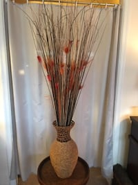 Fall Floor Vase with Fall Dried Floral  Lansdowne