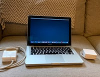 "MacBook Pro 13.3"" 2.5 GHz Intel Core i5, 4 GB 1600 MHz DDR3 (memory), 500 GB hard drive Alexandria, 22314"