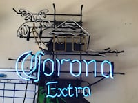 black and blue Corona Extra neon sign 41 mi