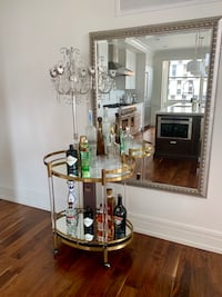 MGBW Bar Cart in gold - must pick up by Sept 26! Detroit, 48226