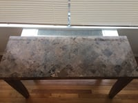 Marble Buffet Table console dining room entryway