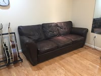 Used pull Out Leather Couch 14 km