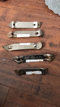 Old... BOTTLE OPENERS (5). Falls City and Oertel's Brand.  Winchester, 40391