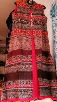women's red and black sleeveless dress Hyderabad, 500089