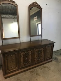 Dresser with two mirror. 67 inches wide delivery available on cost