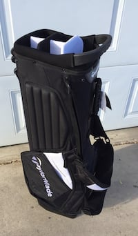 Mens Taylormade Golf Bag black/white stand model