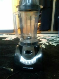 silver and black blender