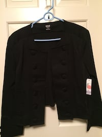 LADIES BLACK DRESS JACKET NWT SIZE LARGE PETITE  Kingsport, 37660