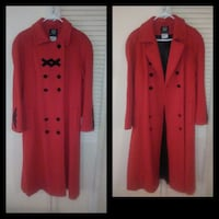 HERITAGE Red Wool Trench Coat Toronto