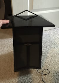 Black corded lantern lamp Vaughan