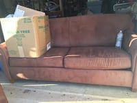 brown and black fabric sofa Leesburg, 20176