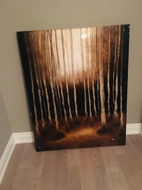 black and brown abstract painting Vaughan, L6A 1E8