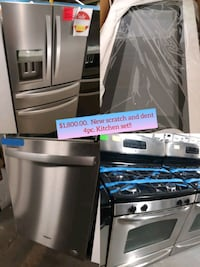 New scratch and dent 4pc. Kitchen set