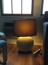 Black and brown table lamp