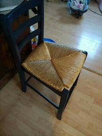 brown wooden frame brown padded chair Silver Spring, 20906