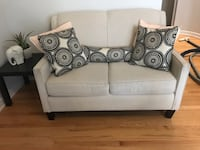 3 Pc Ivory Couch Set 554 km