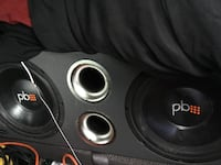 Black and gray pioneer subwoofer speaker 462 mi