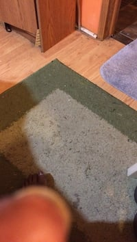 gray thick pile area rug