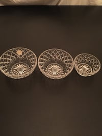 "$9 for 5"" Lennox Crystal Bowls; $8 for 3.75"" Arlington, 22204"